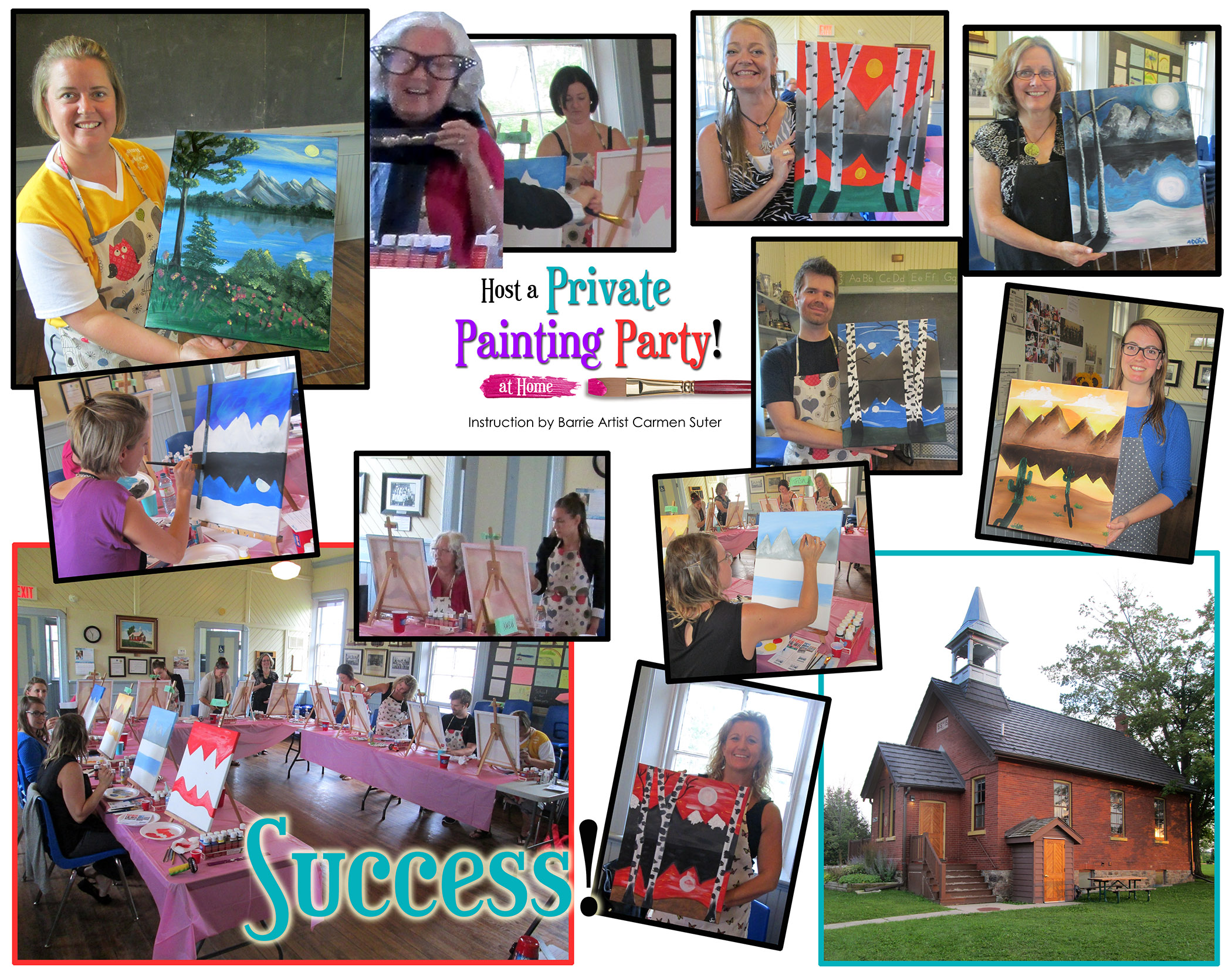 Host a private painting party for a team building event for Private paint party