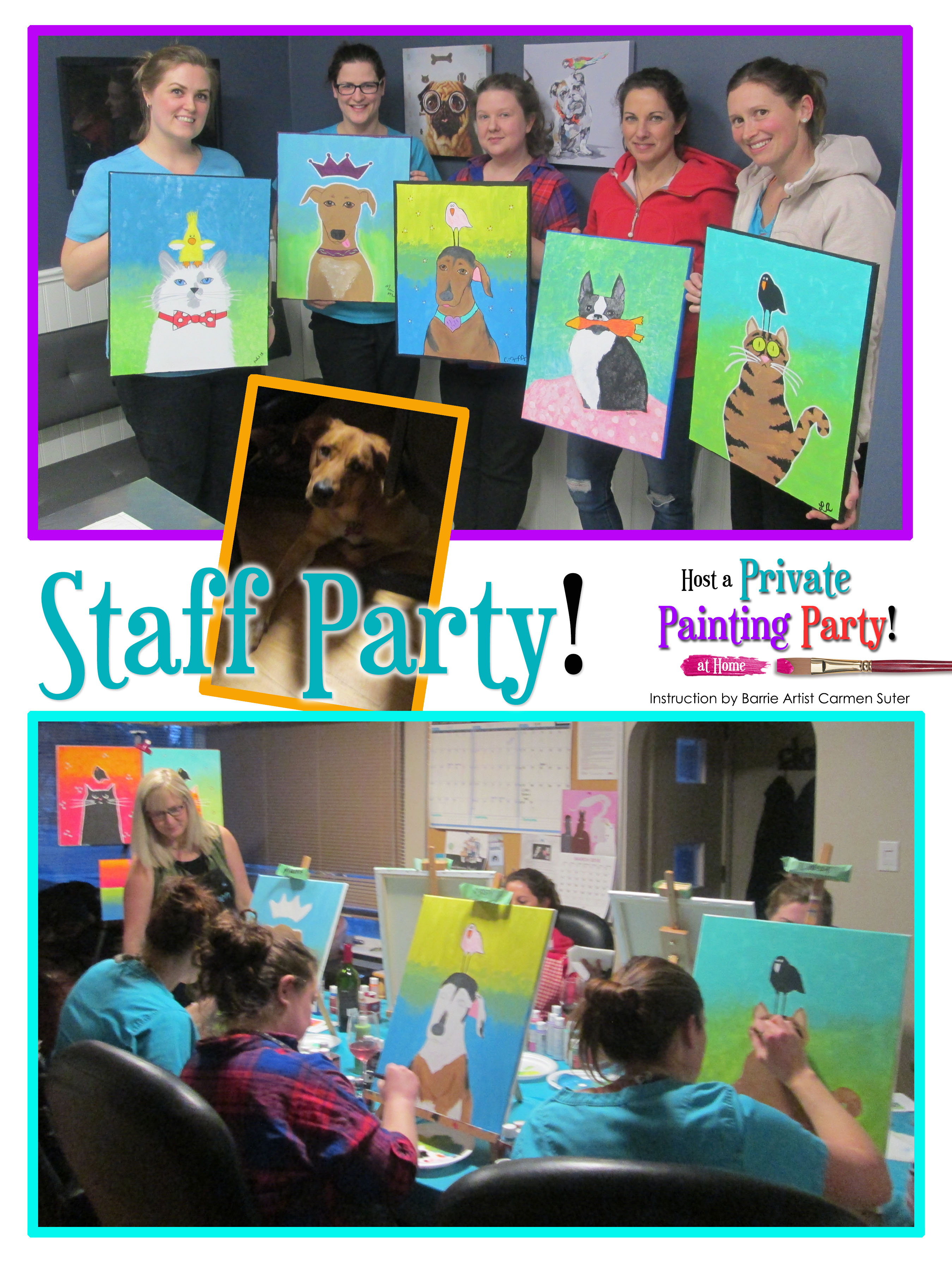 Girls night in private painting party in barrie so for Paint night home parties