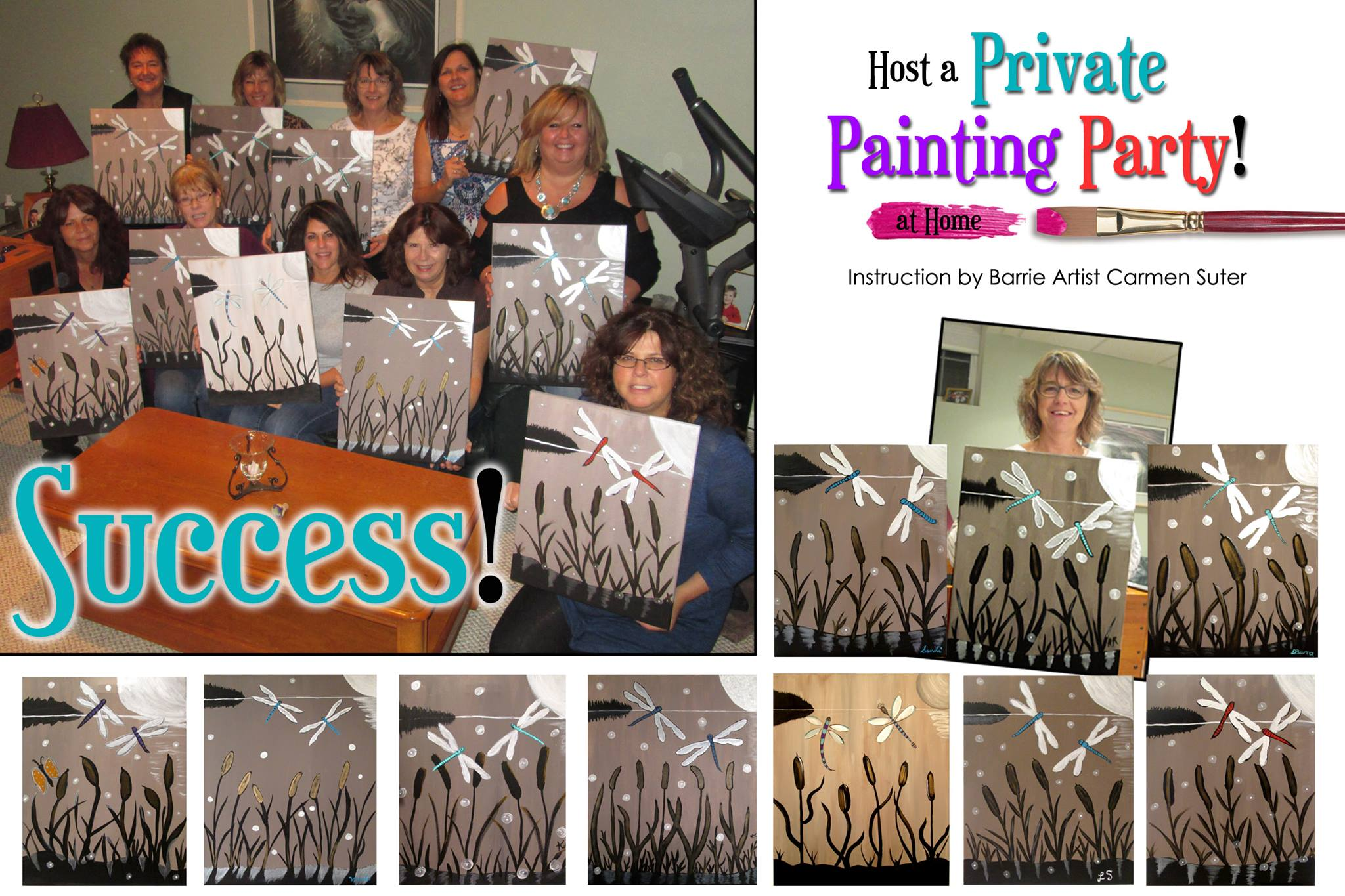 Host a private painting party at home for a birthday for Private paint party